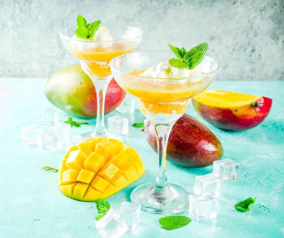 Recept za brezalkoholno mango Margarita pijačo