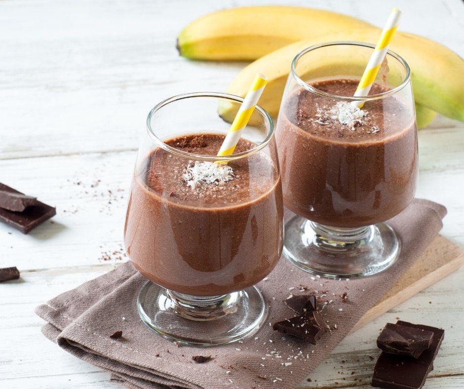 Recept za okusni čokoladno-bananin Smoothie
