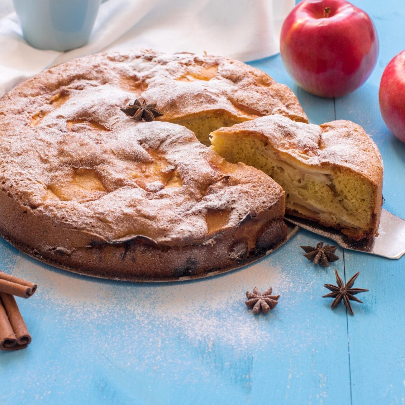 Jabolčna pita s proseno kašo